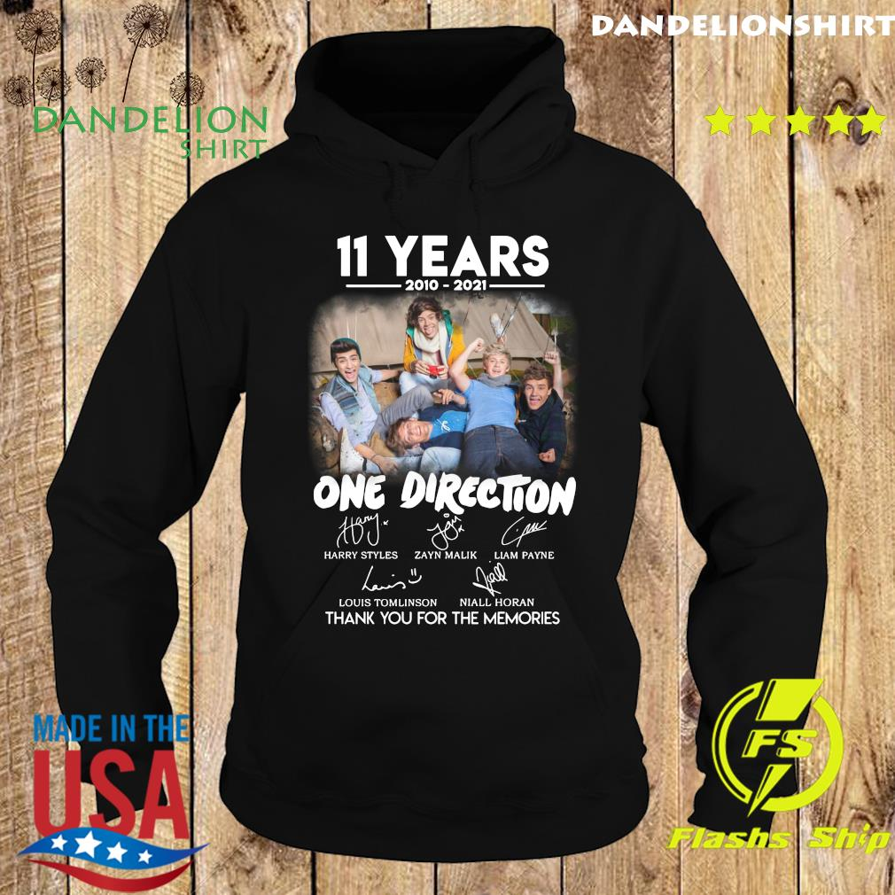 11 Years 2010 2021 Of One Direction Movie Signatures Thanks For The Memories Shirt Hoodie