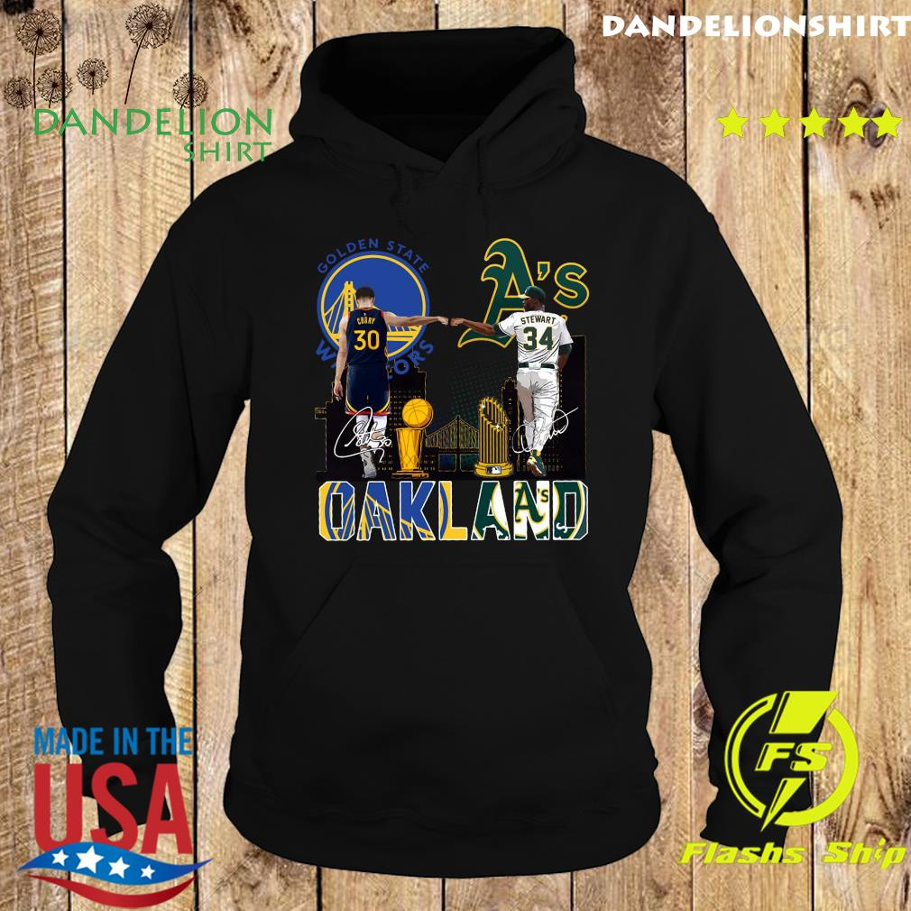 Curry Golden State Warriors And Stewart Oakland Athletics Oakland Signatures Shirt Hoodie