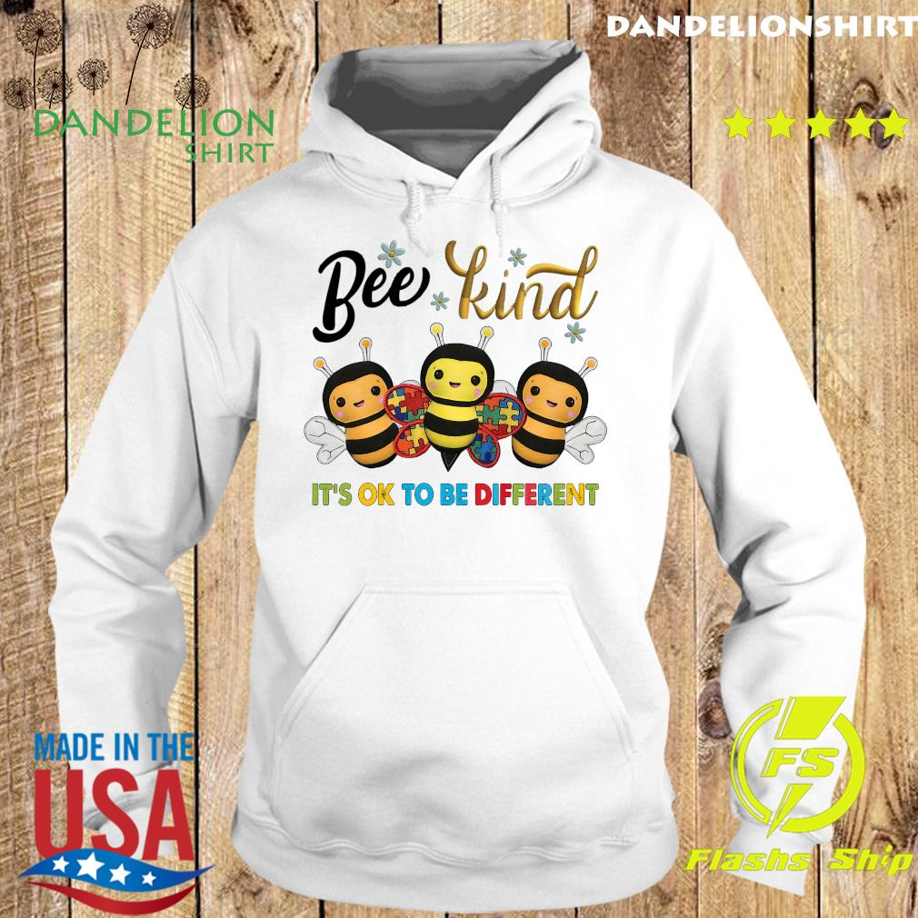 Bee Kind It's Ok To Be Different Autism Awareness Shirt Hoodie