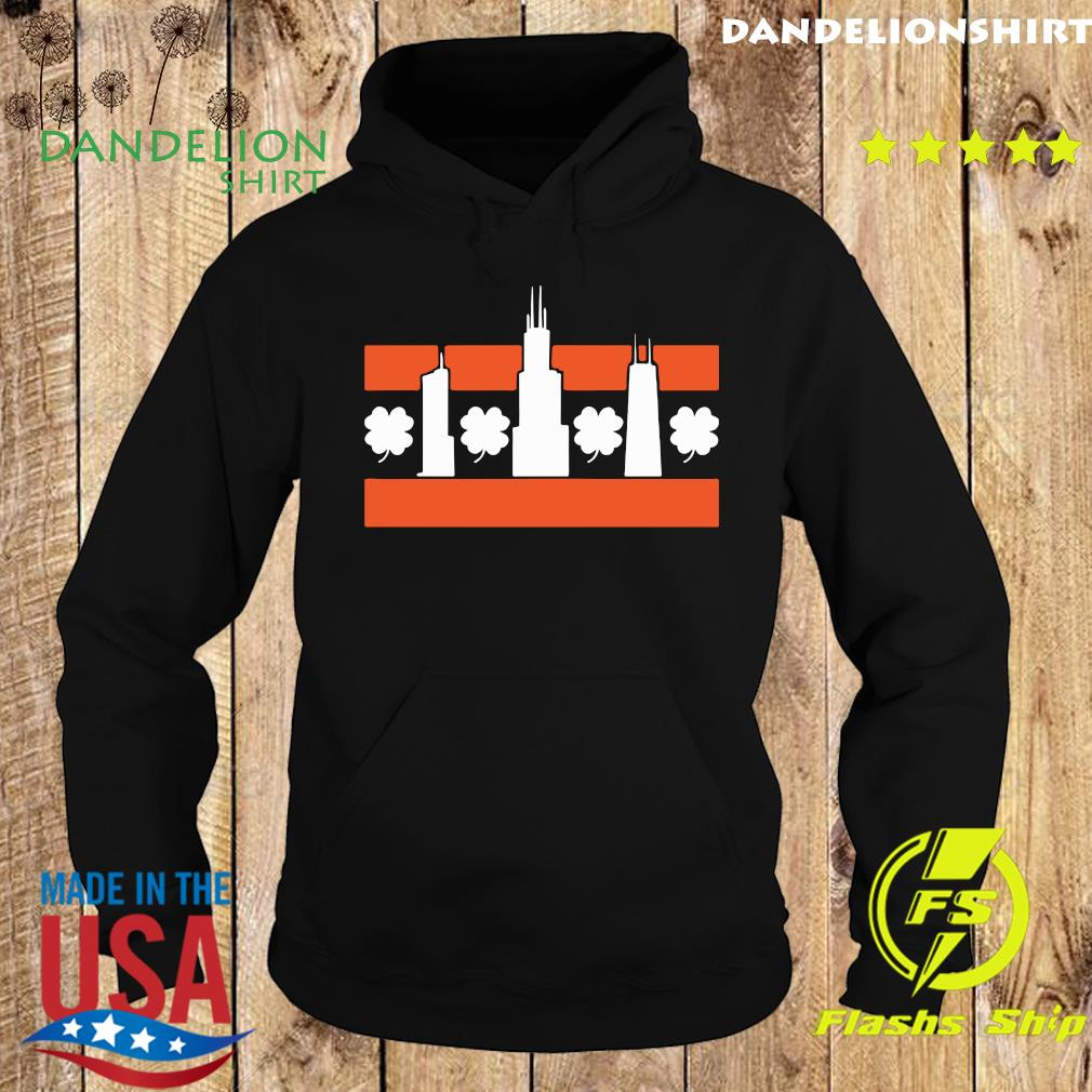 Chicago Shamrock Skyline Shirt Hoodie