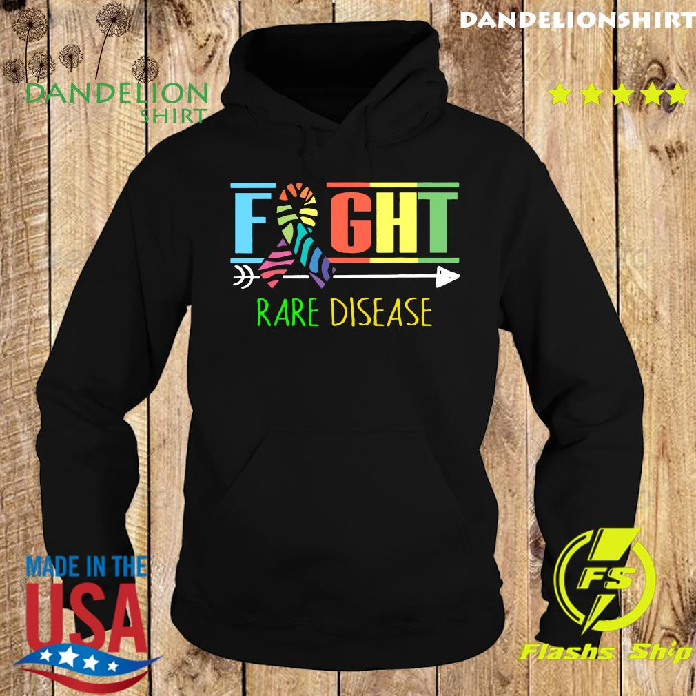 Fight Rare Disease Zebra Ribbon Rare Disease Day 2021 Shirt Hoodie