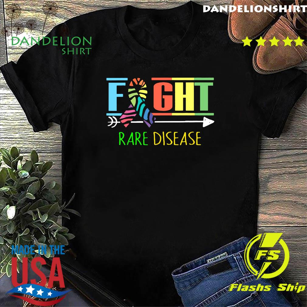 Fight Rare Disease Zebra Ribbon Rare Disease Day 2021 Shirt