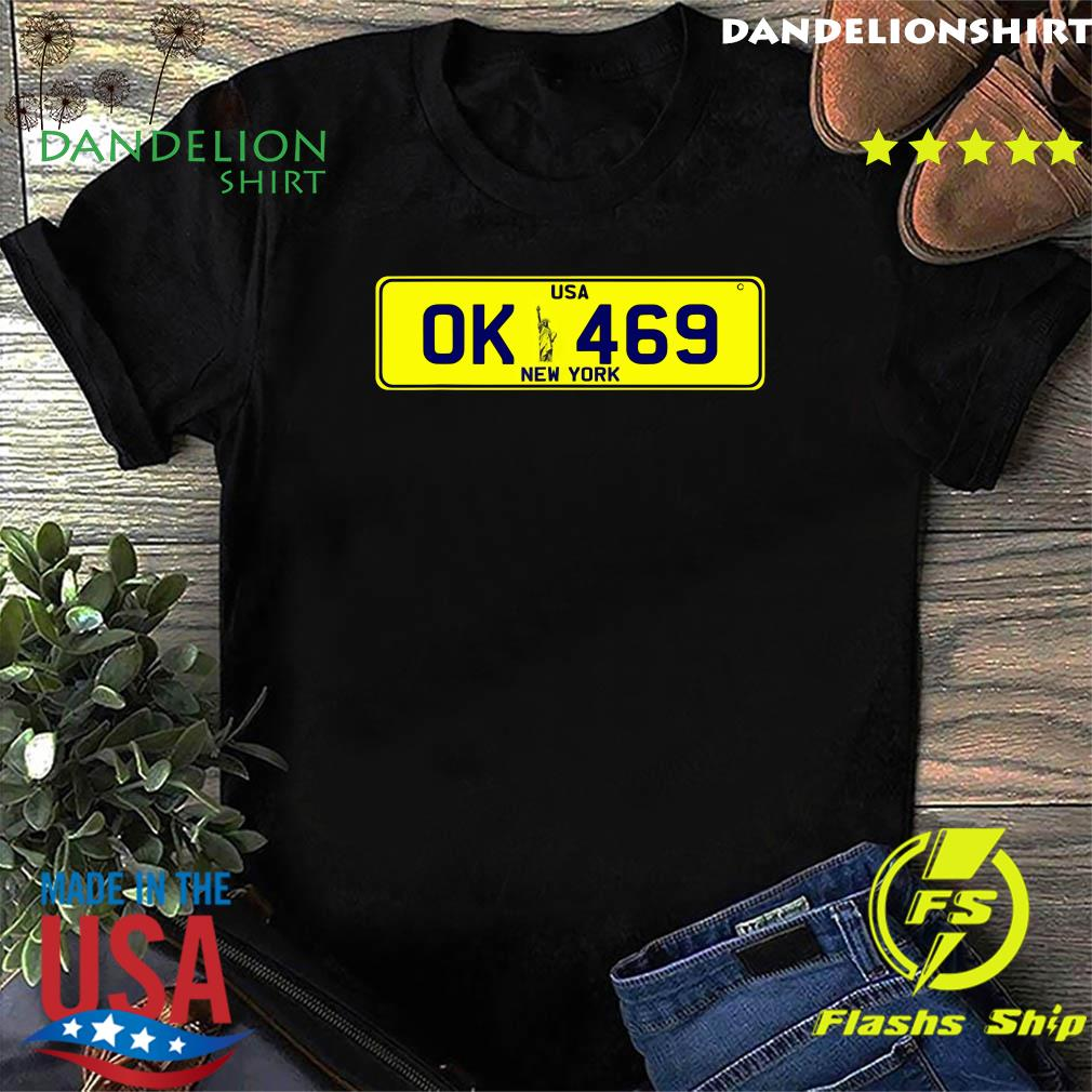 Novelty New York number plate Ok 469 Shirt