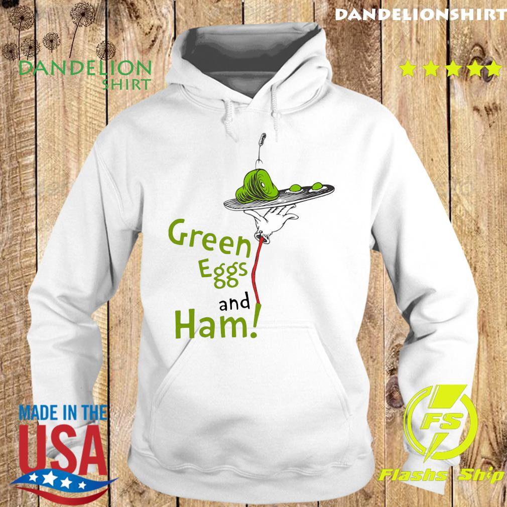 Official Dr. Seuss Green Eggs and Ham Shirt Hoodie