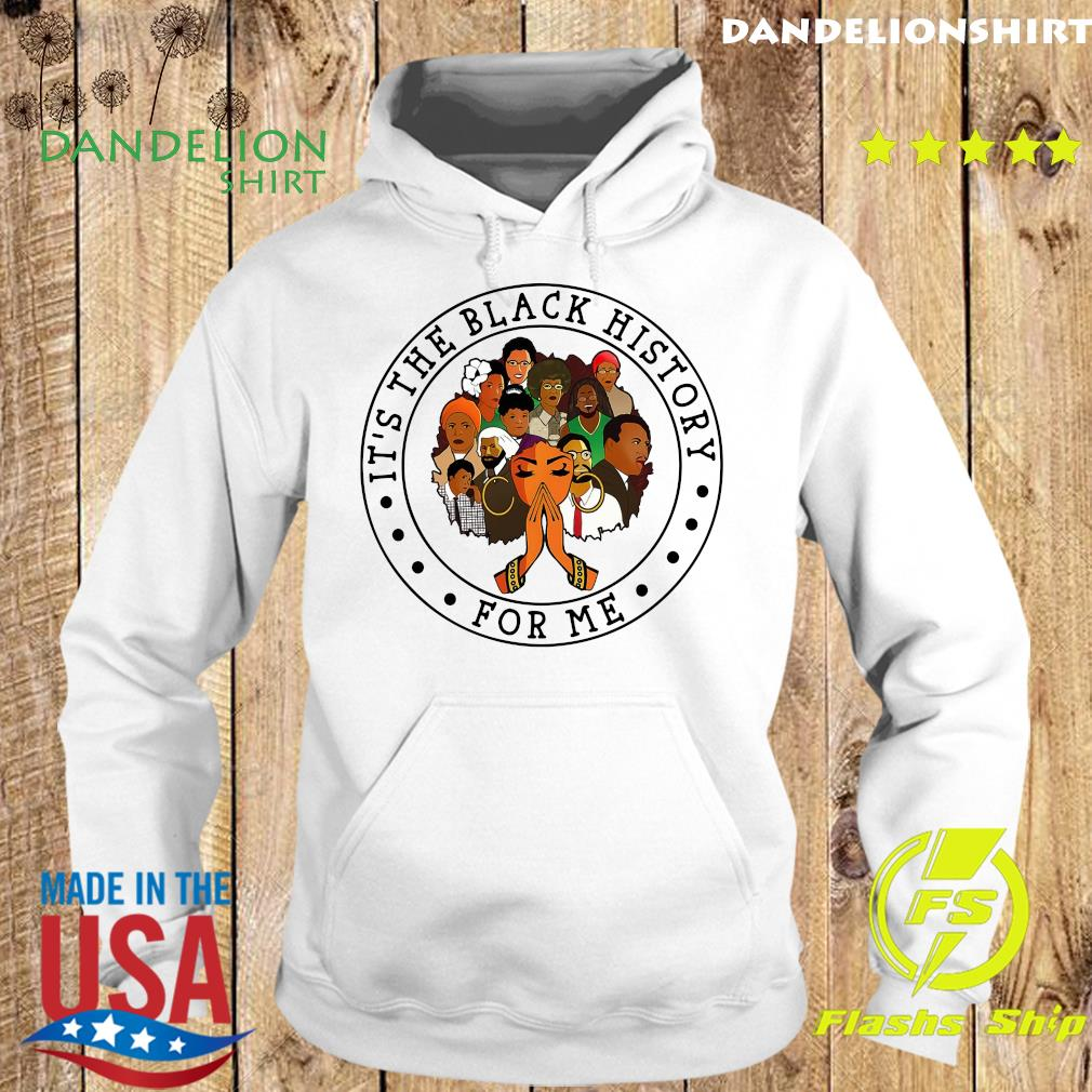 Official It's The Black History For Me Shirt Hoodie