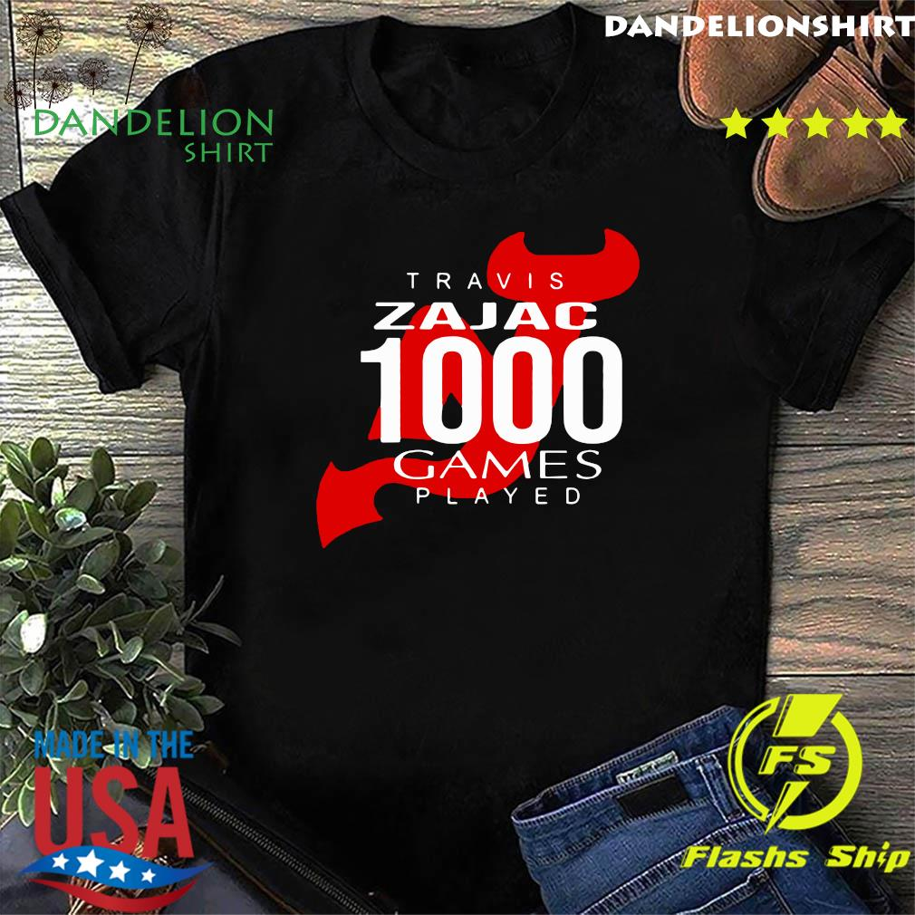 Official Travis Zajac 1000 Game Played Shirt