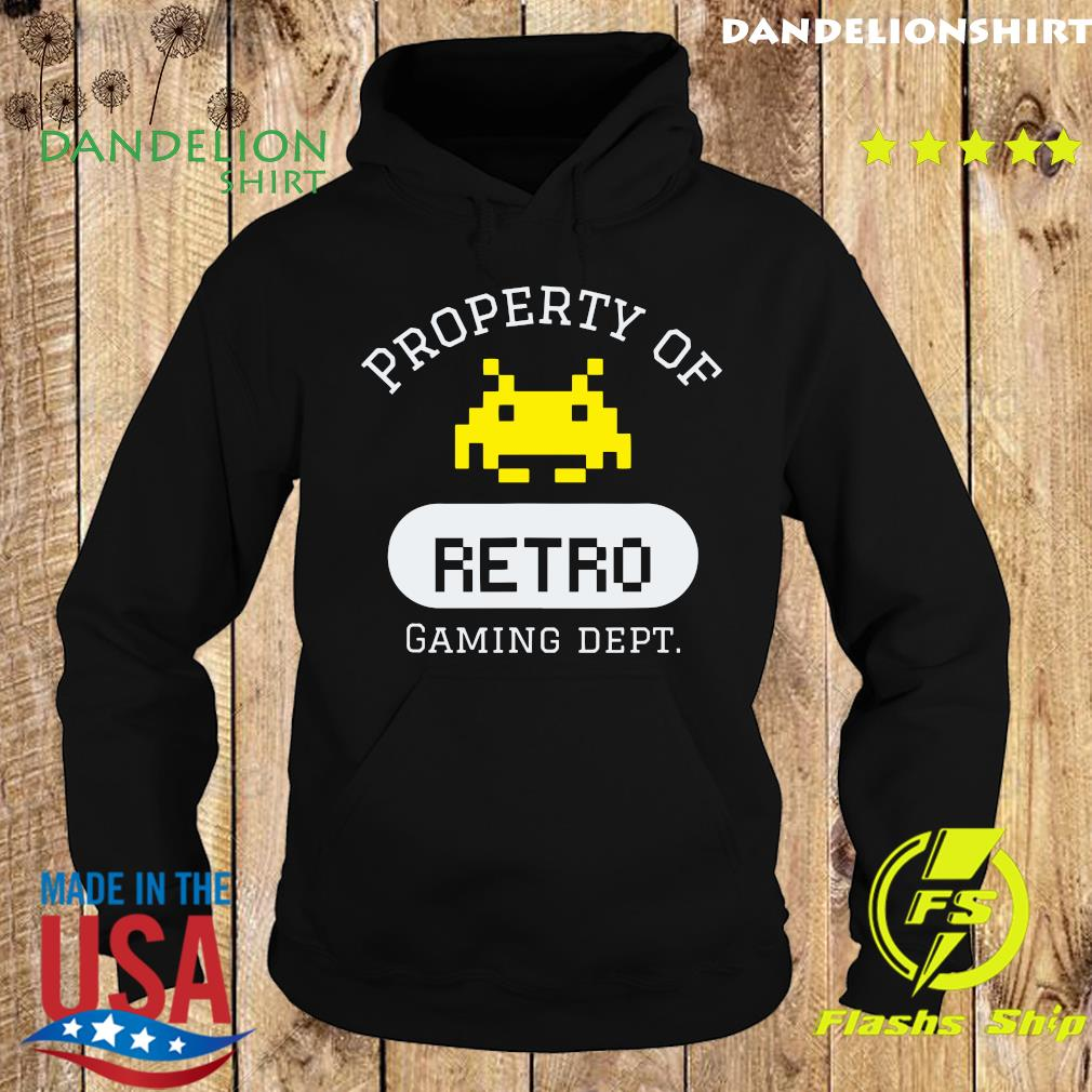 Property of Retro Gaming Dept Shirt Hoodie