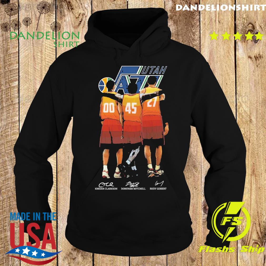 Utah Jazz Clarkson and Mitchell and Gobert signatures s Hoodie