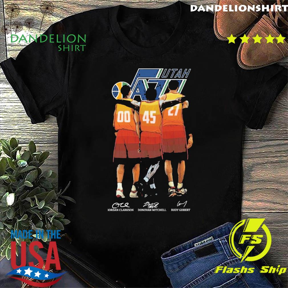 Utah Jazz Clarkson and Mitchell and Gobert signatures shirt