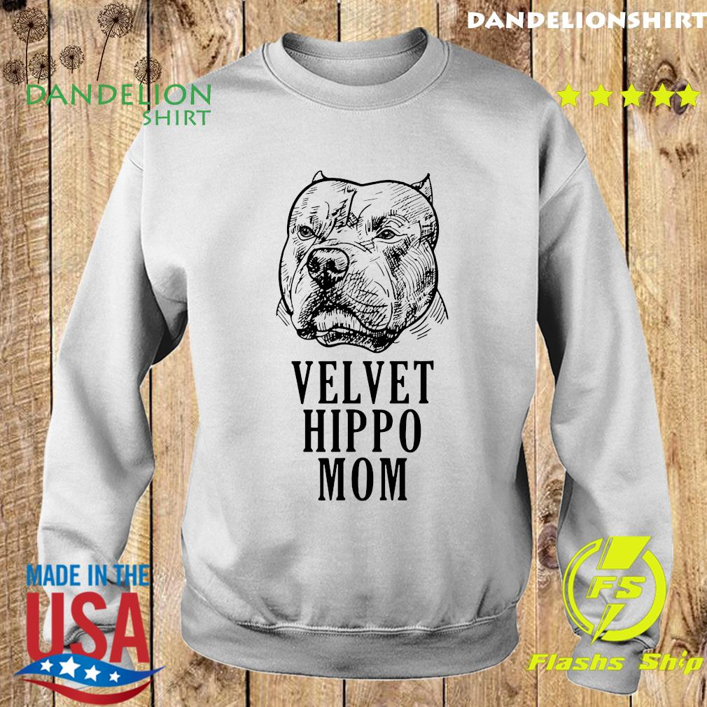 Pitbull Dogs Velvet Hippo Mom Shirt Sweater
