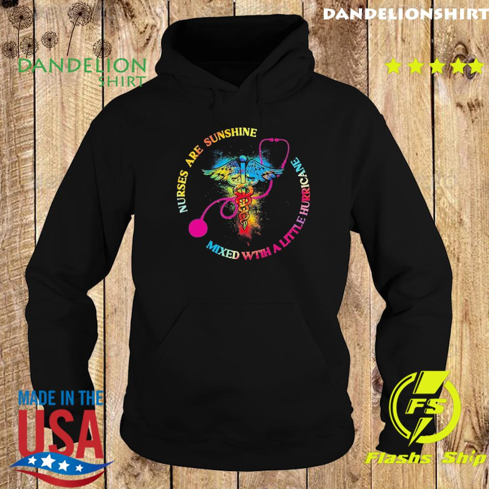 Official EMT Nurse Are Sunshine Mixed With A Little Hurricane Shirt Hoodie