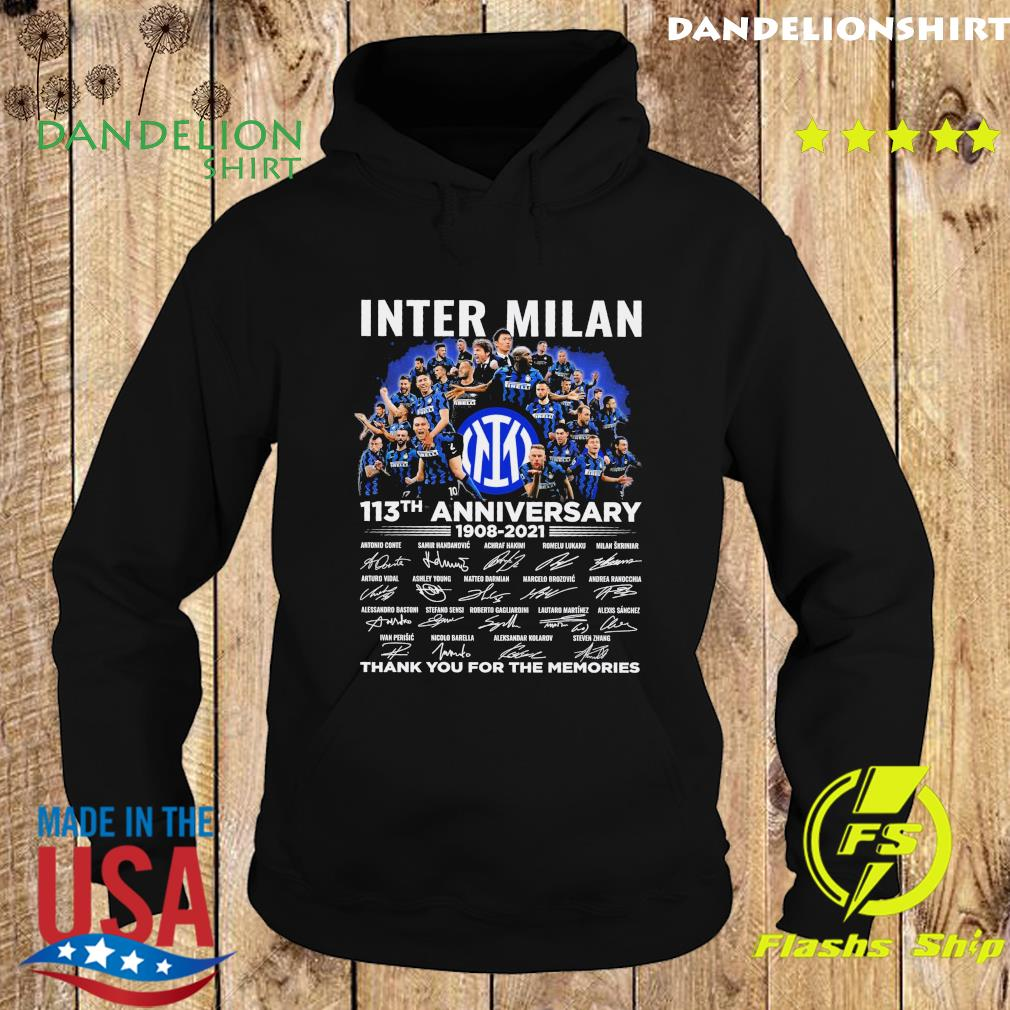 Official Inter Milan 113th Anniversary 1908 2021 Signatures Thank You For The Memories Shirt Hoodie