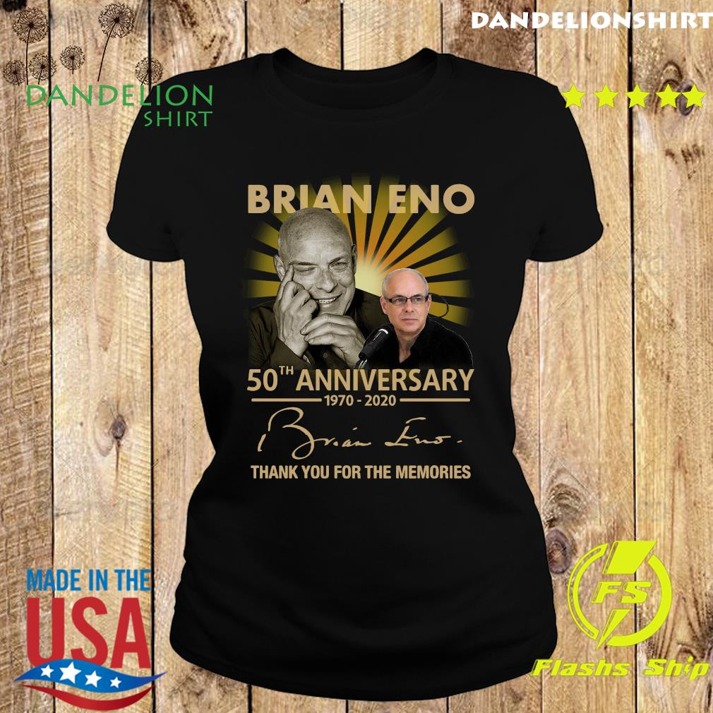 Brian eno 50th anniversary 1970 2020 thank you for the memories signature s Ladies tee