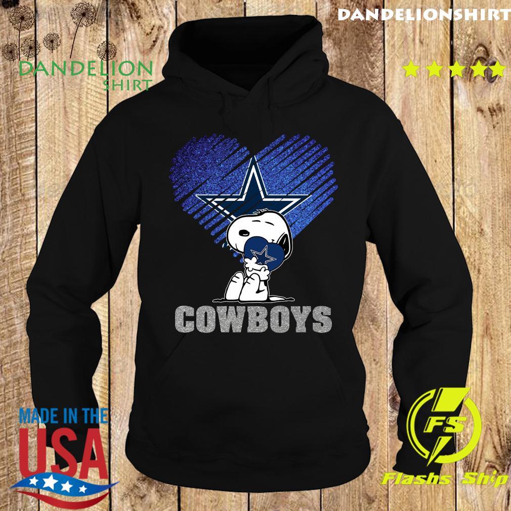 Snoopy Hug Heart Dallas Cowboys Shirt Hoodie