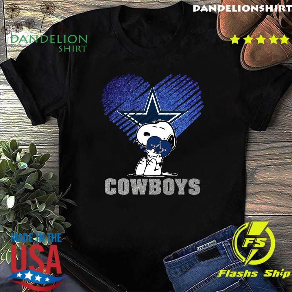 Snoopy Hug Heart Dallas Cowboys Shirt