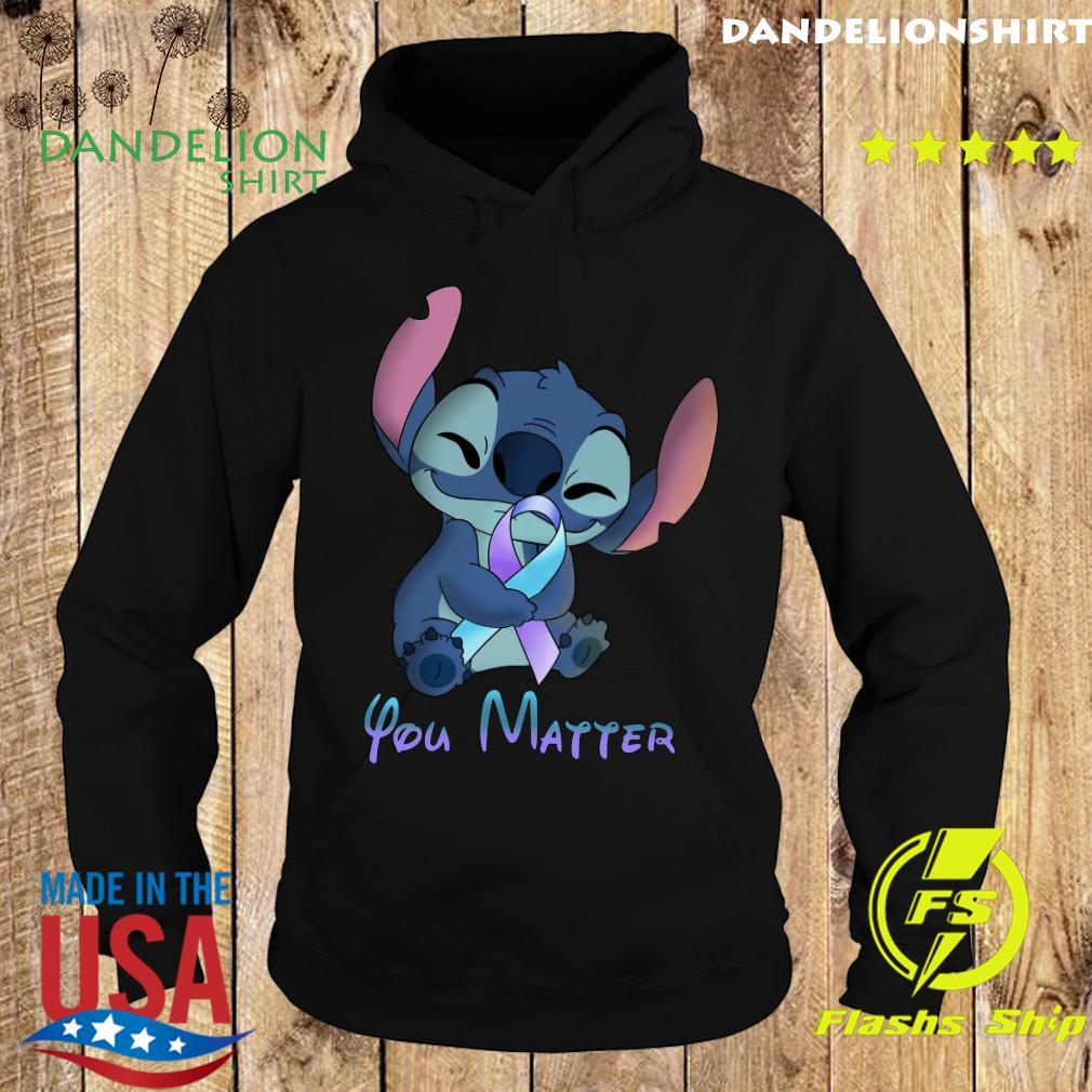 Stitch Hug Breat Cancer You Matter Shirt Hoodie