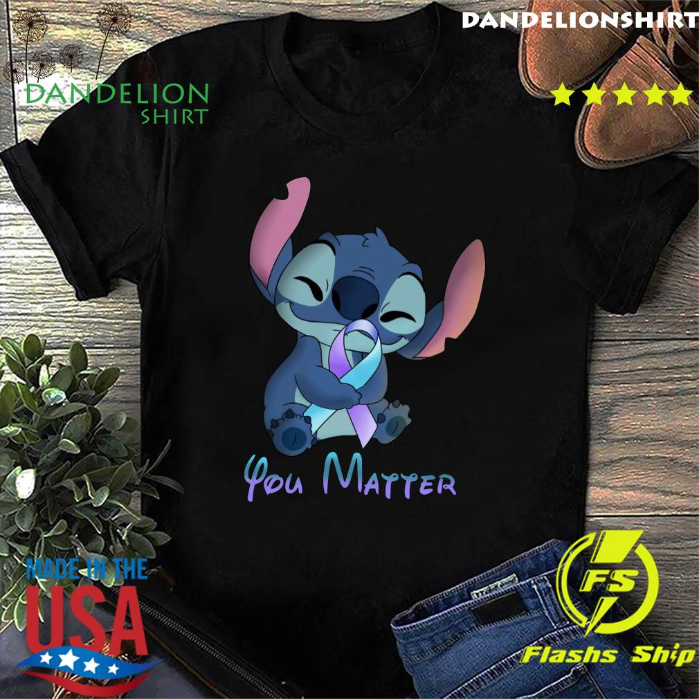 Stitch Hug Breat Cancer You Matter Shirt