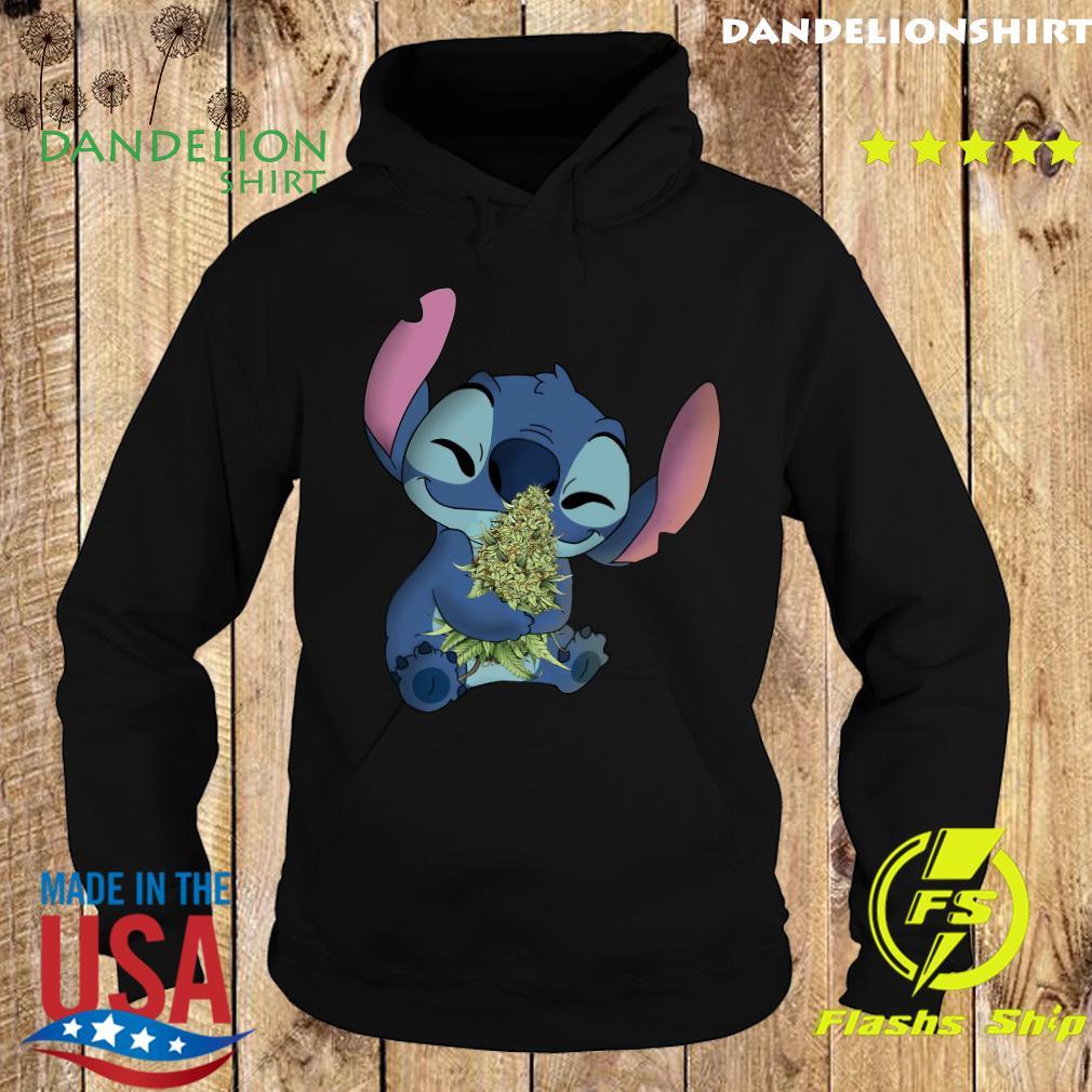 Stitch Hug Cannabis Shirt Hoodie