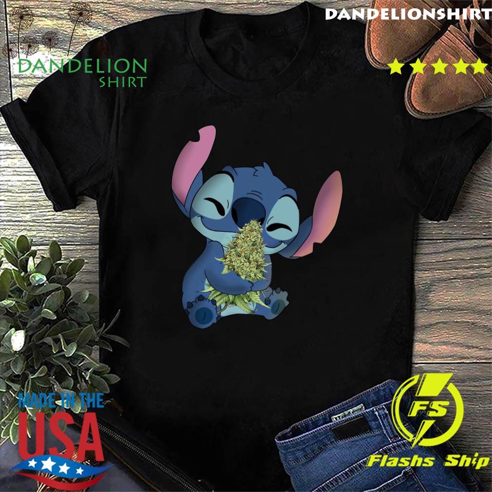 Stitch Hug Cannabis Shirt