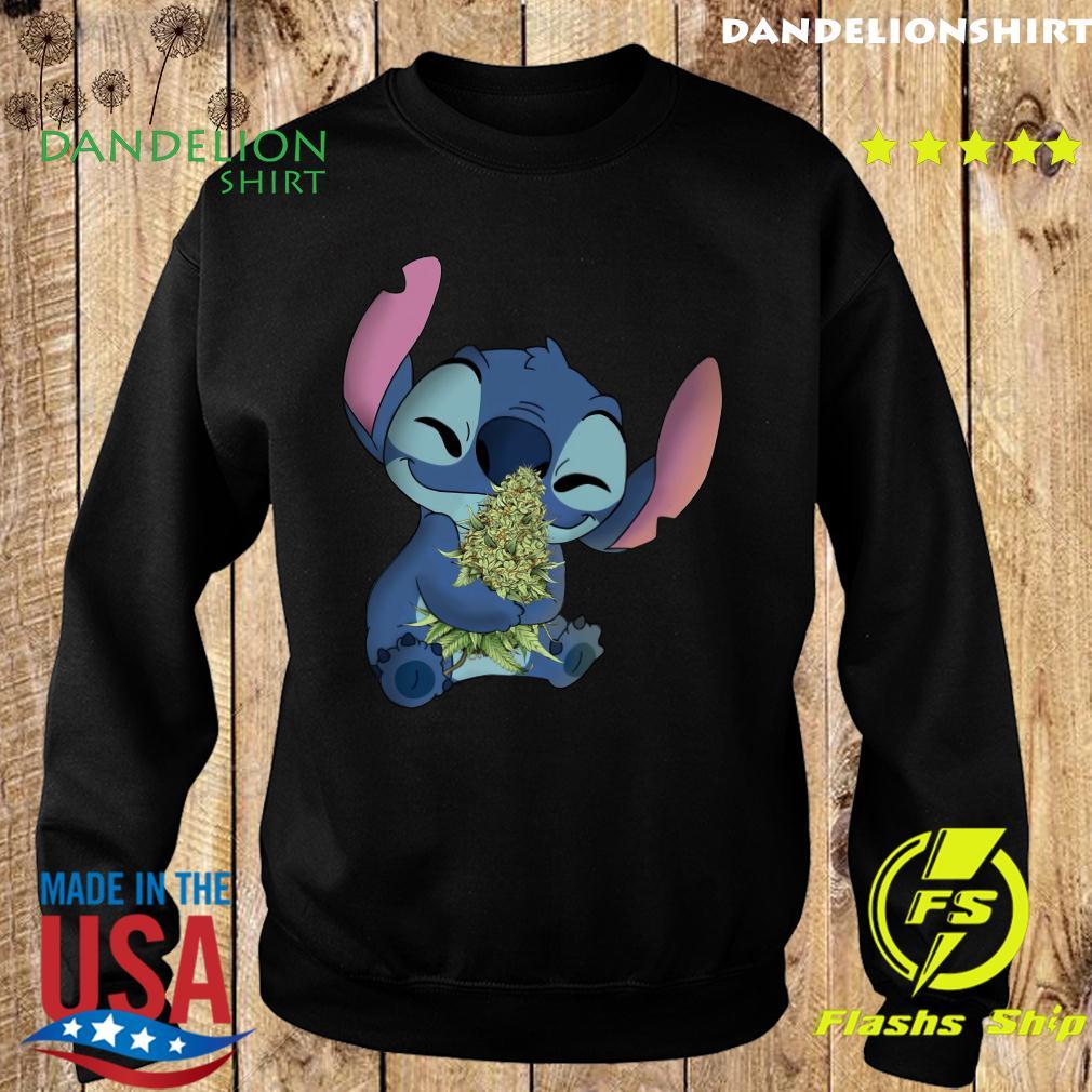Stitch Hug Cannabis Shirt Sweater
