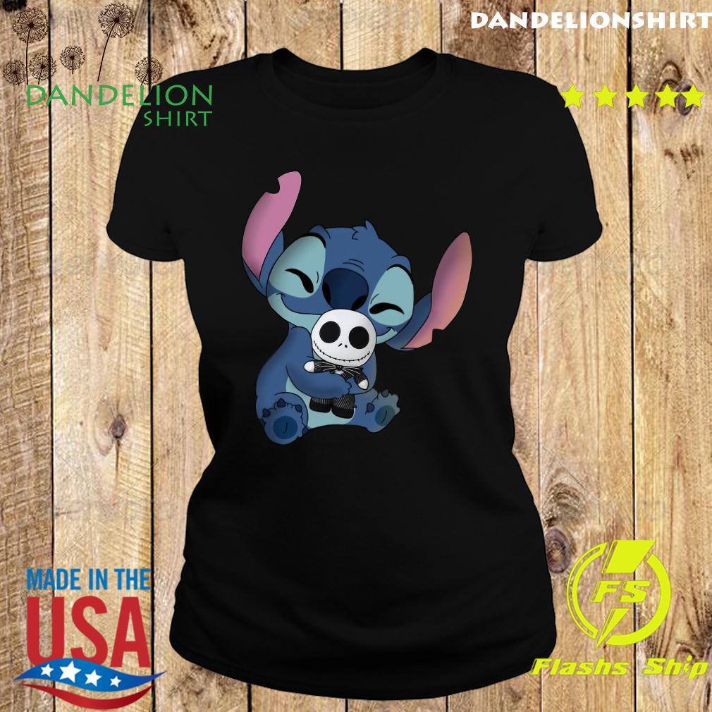 Stitch Hug Jack Skeleington Shirt Ladies tee