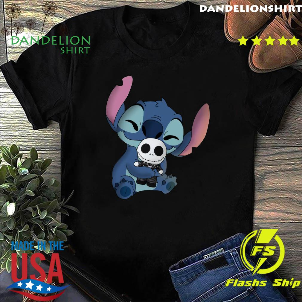 Stitch Hug Jack Skeleington Shirt