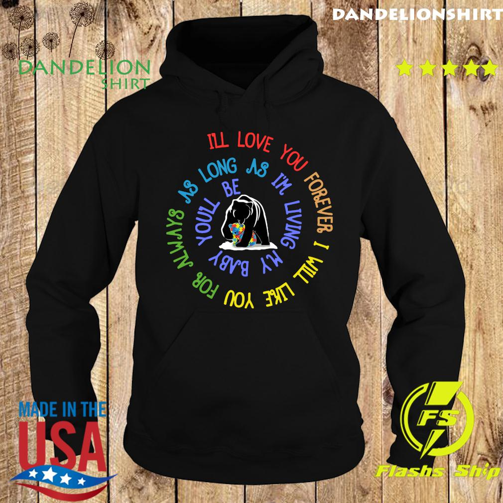 Bear Lgbt I'll Love You Forever I Will Like You For Always As Long As I'm Living My Baby You'll Be Autism Shirt Hoodie
