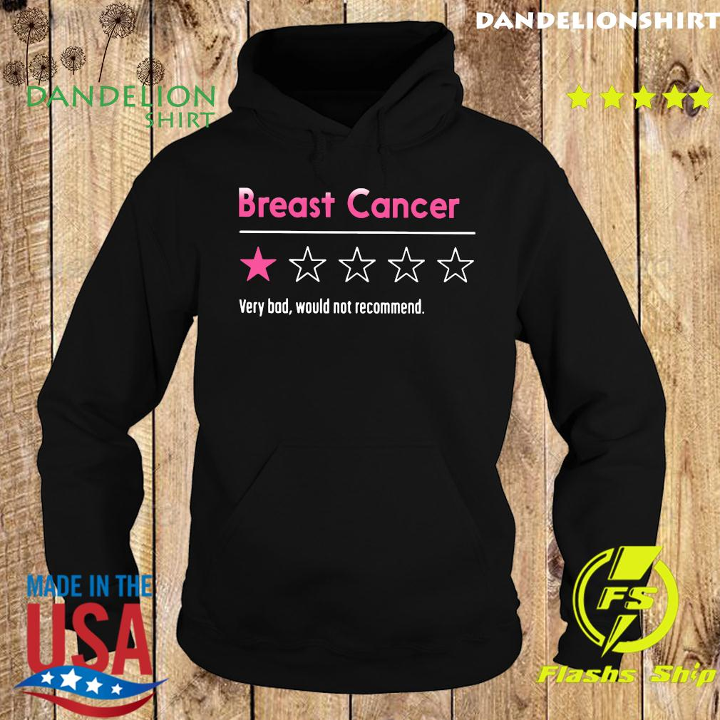 Breast Cancer Very Bad Would Not Recommend Shirt Hoodie