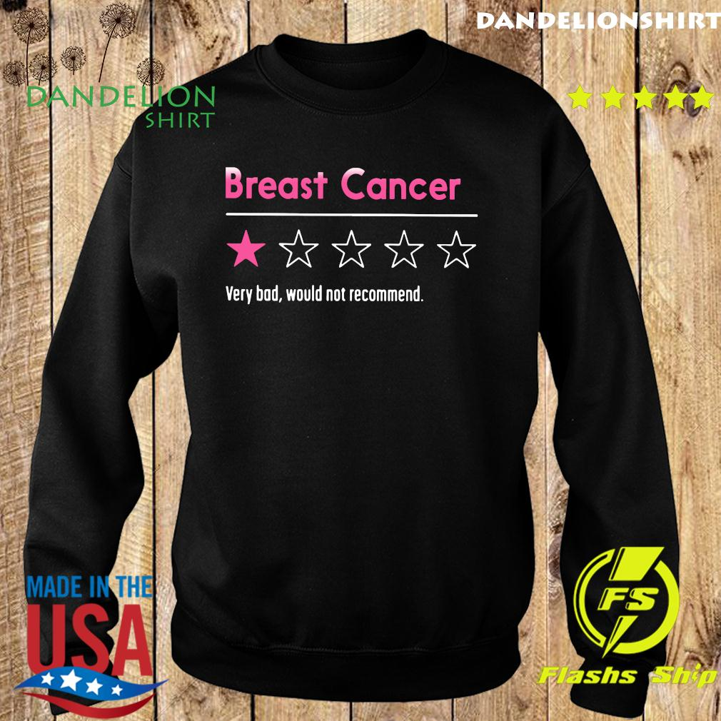 Breast Cancer Very Bad Would Not Recommend Shirt Sweater