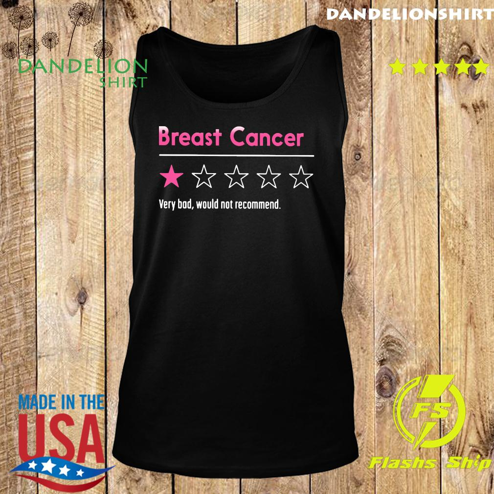 Breast Cancer Very Bad Would Not Recommend Shirt Tank top