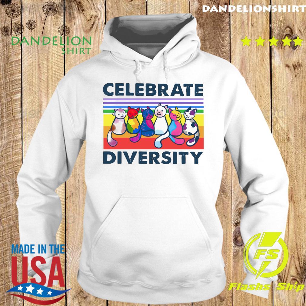 Cats Celebrate Diversity Vintage Shirt Hoodie