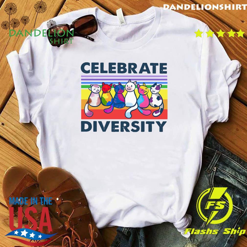 Cats Celebrate Diversity Vintage Shirt