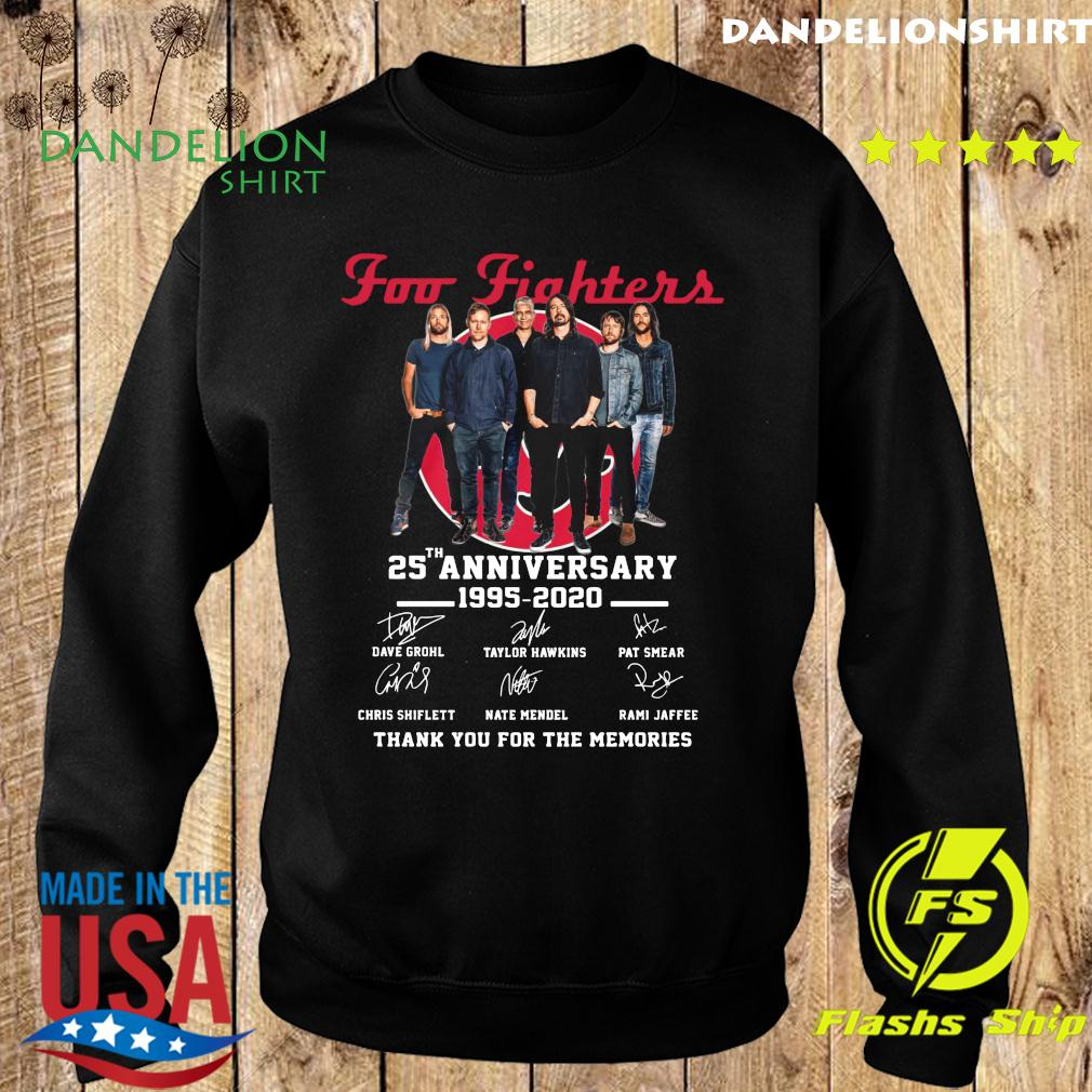 Foo Fighters 25th Anniversary 1995 2020 Thank You For The Memories Signatures Shirt Sweater