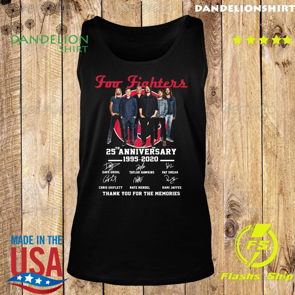 Foo Fighters 25th Anniversary 1995 2020 Thank You For The Memories Signatures Shirt Tank top