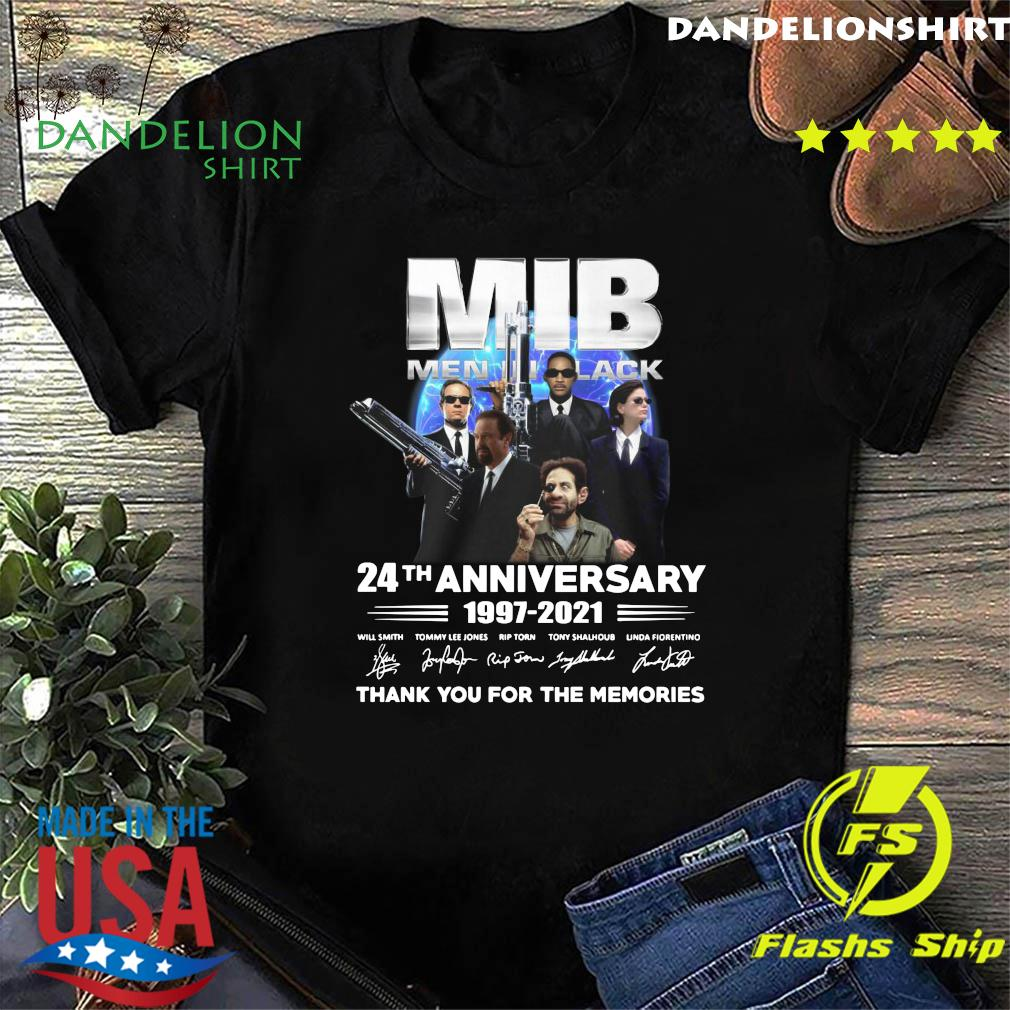 MIB Men In Black 24th Anniversary 1997 2021 Thank You For The Memories Signatures Shirt