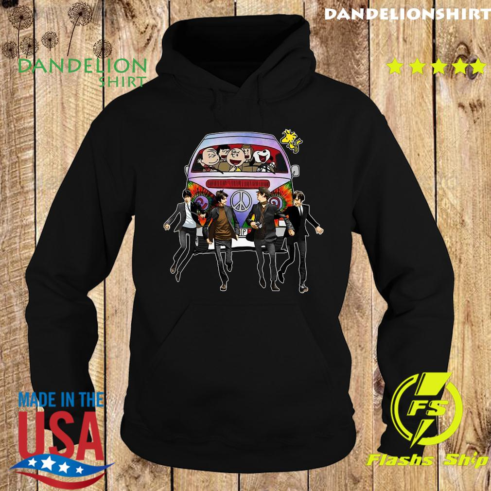 Snoopy And Woodstock And The Beatles Hard Day's Night Shirt Hoodie