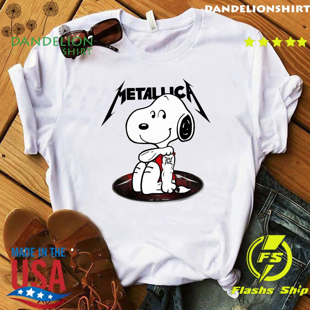 Snoopy Tattoo Metallica Shirt