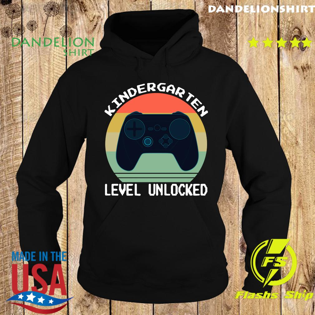 Vintage Game Controller Kindergarten Level Unlocked Shirt Hoodie