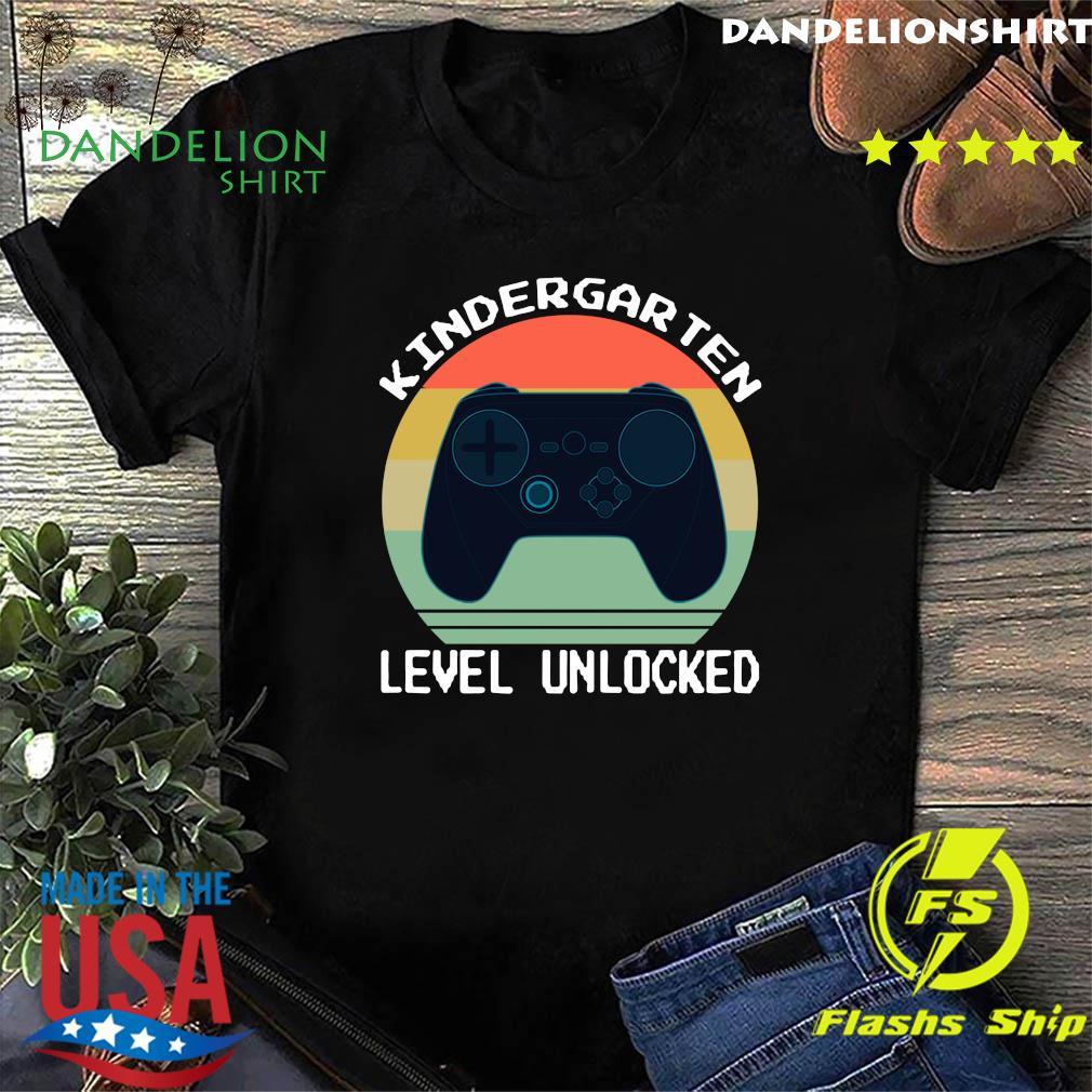 Vintage Game Controller Kindergarten Level Unlocked Shirt