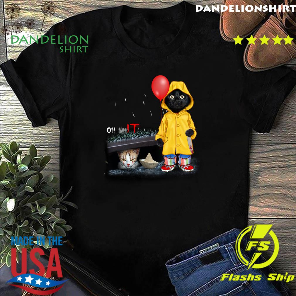 Black Cat Oh Shit Cat Pennywise It Shirt