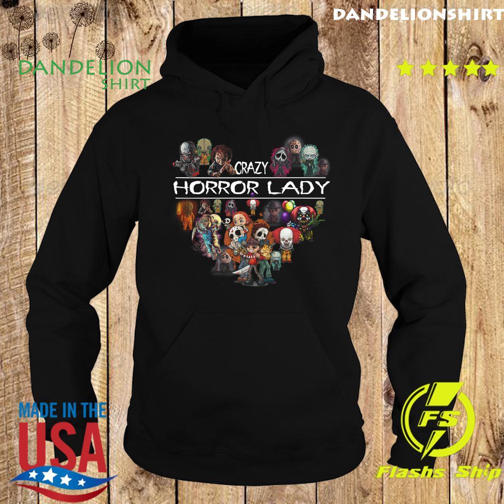 Crazy Horror Lady Heart Halloween Shirt Hoodie