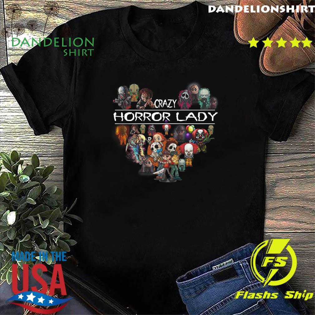 Crazy Horror Lady Heart Halloween Shirt