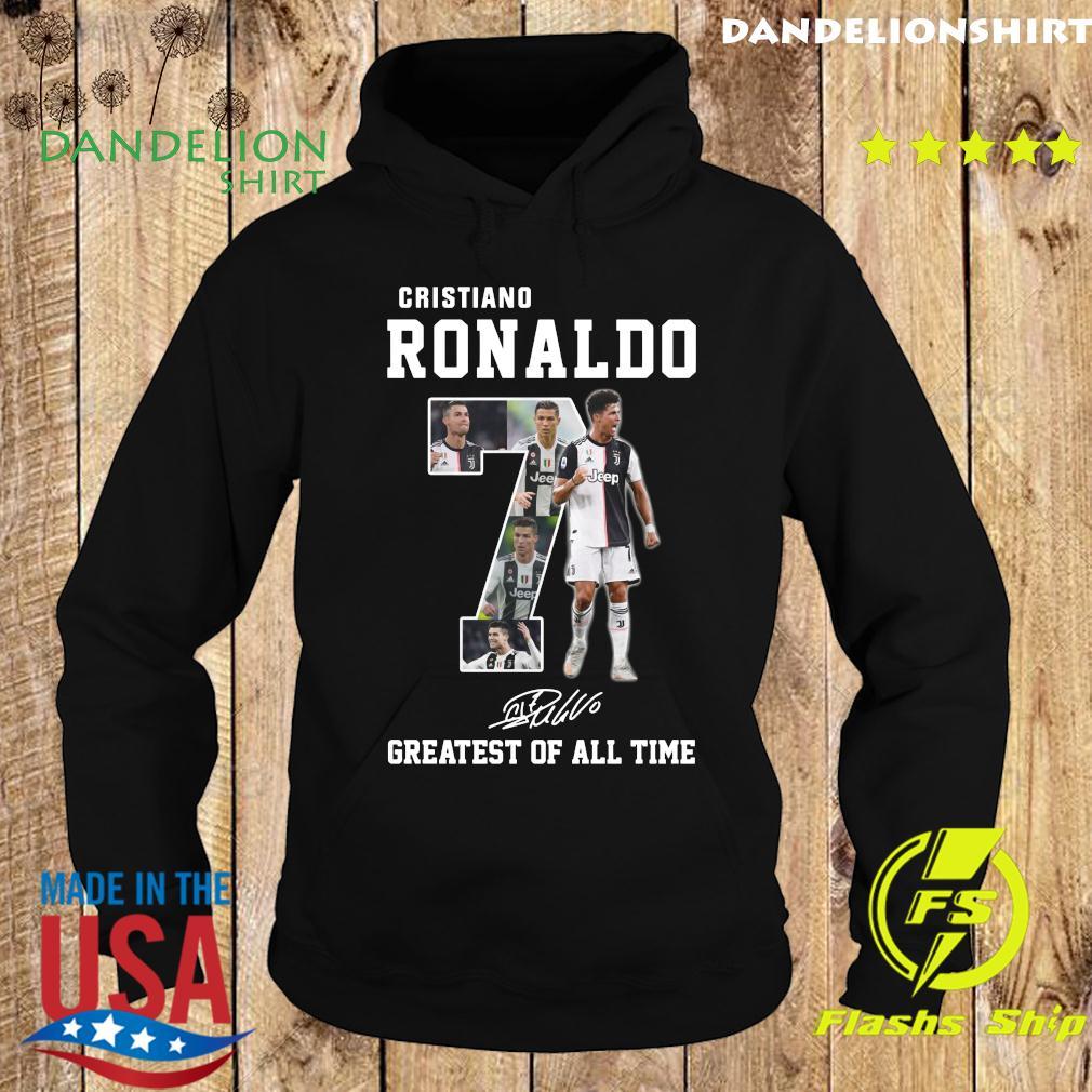 Cristiano Ronaldo 7 Greatest Of All Time Signature Shirt Hoodie