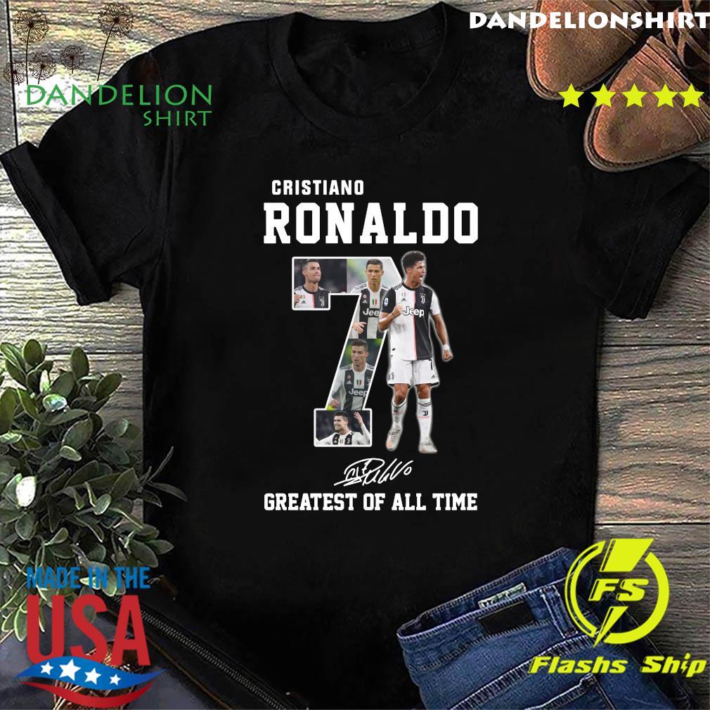 Cristiano Ronaldo 7 Greatest Of All Time Signature Shirt