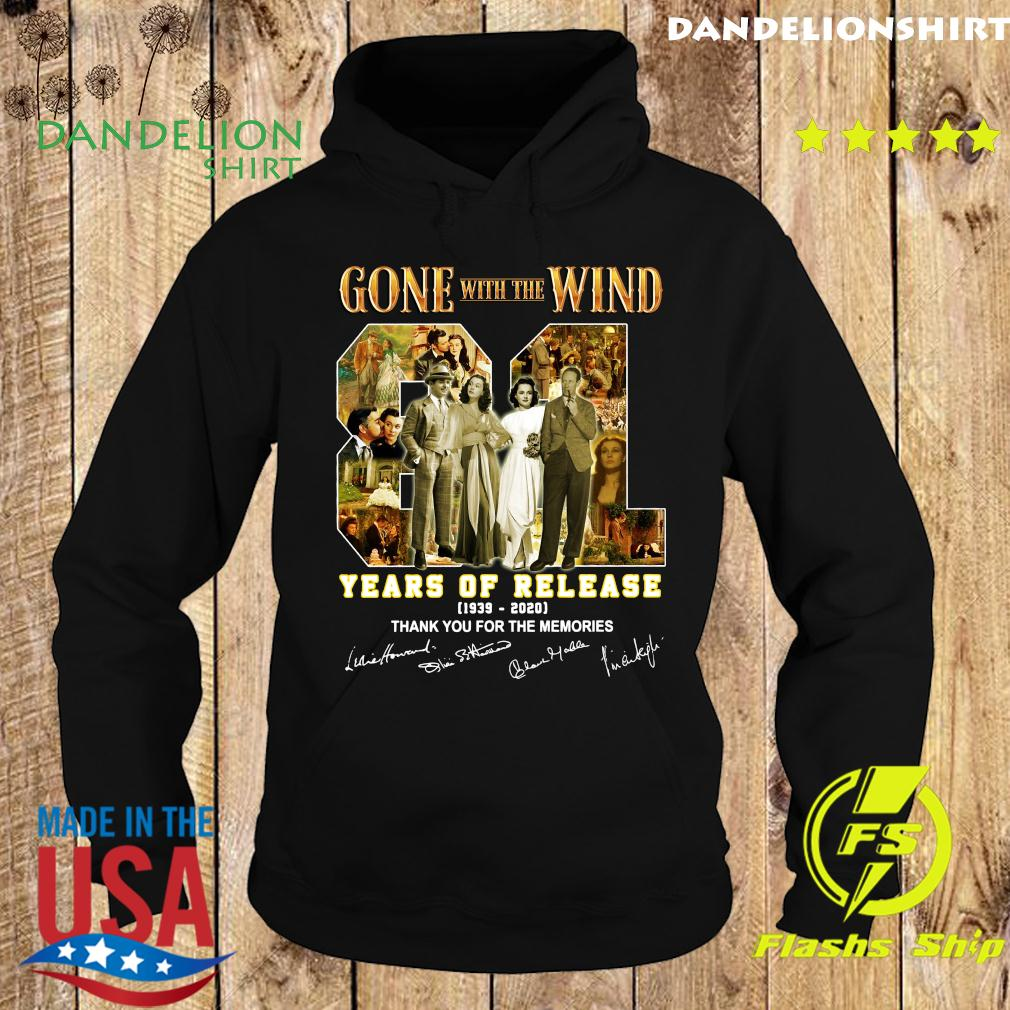 Gone With The Wind 81 Years Of Release 1939 2020 Thank You For The Memories Signatures Shirt Hoodie