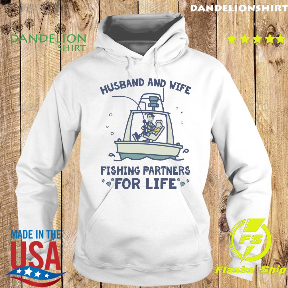 Husband And Wife Fishing Partners For Life Shirt Hoodie
