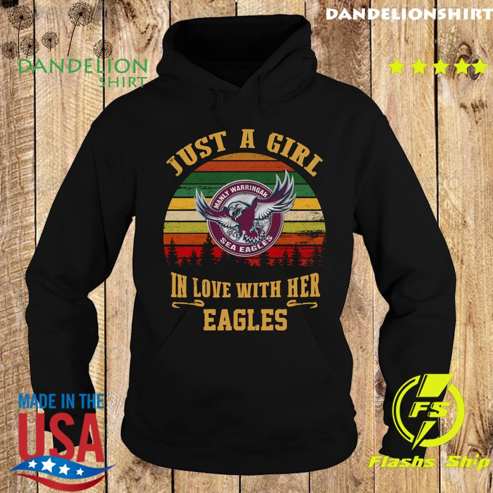Manly Warringah Just A Girl In Love With Her Eagles Vintage Retro Shirt Hoodie