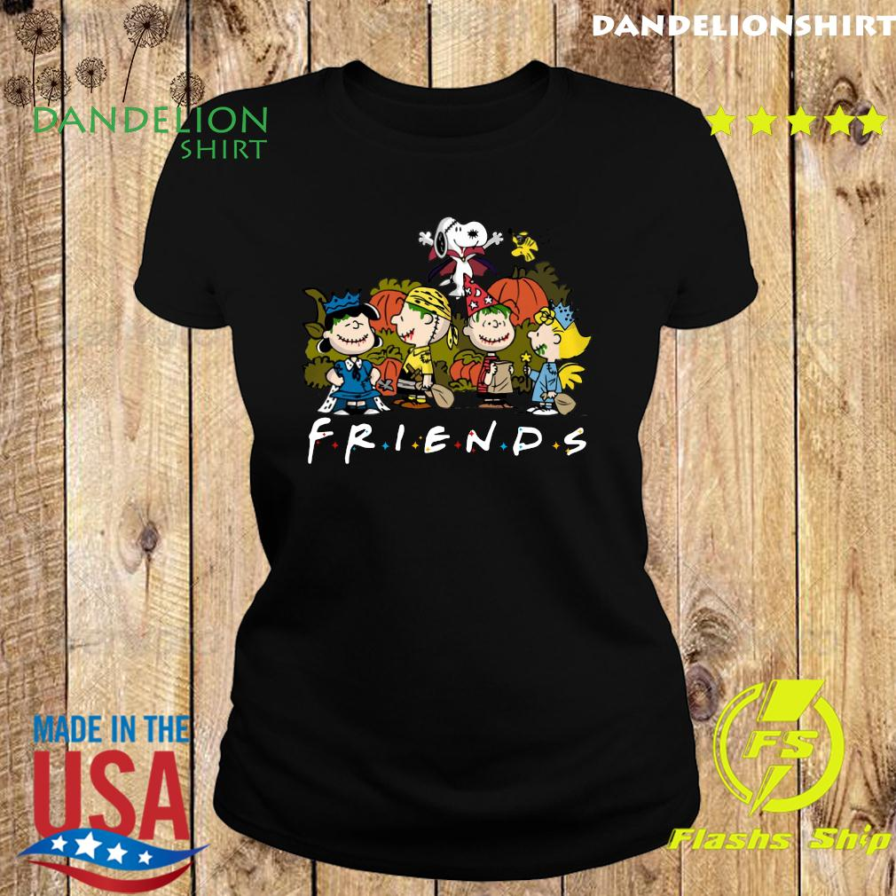 Peanut Snoopy and Charlie Brown friends halloween s Ladies tee