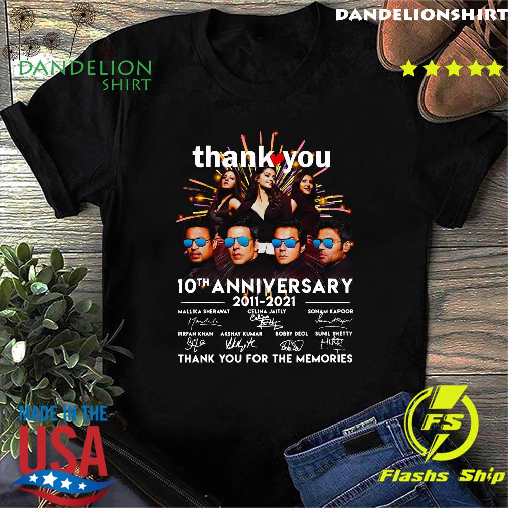 Thank You 10th Anniversary 2011 2021 Thank You For The Memories Signatures Shirt