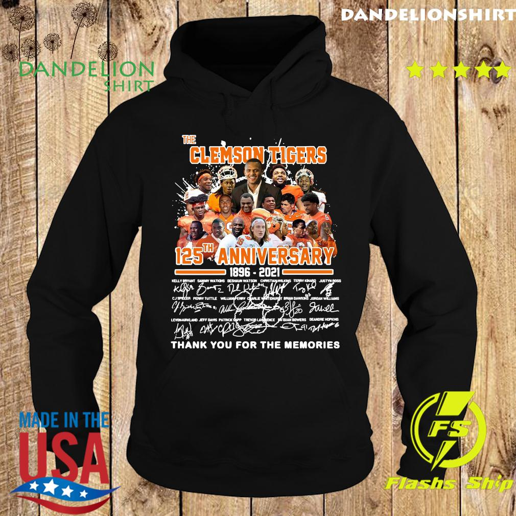 The Clemson Tigers 125th Anniversary 1896 2021 Thank You For The Memories Signatures Shirt Hoodie